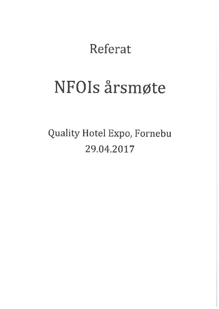 thumbnail of Referat NFOIs Årsmøte 2017