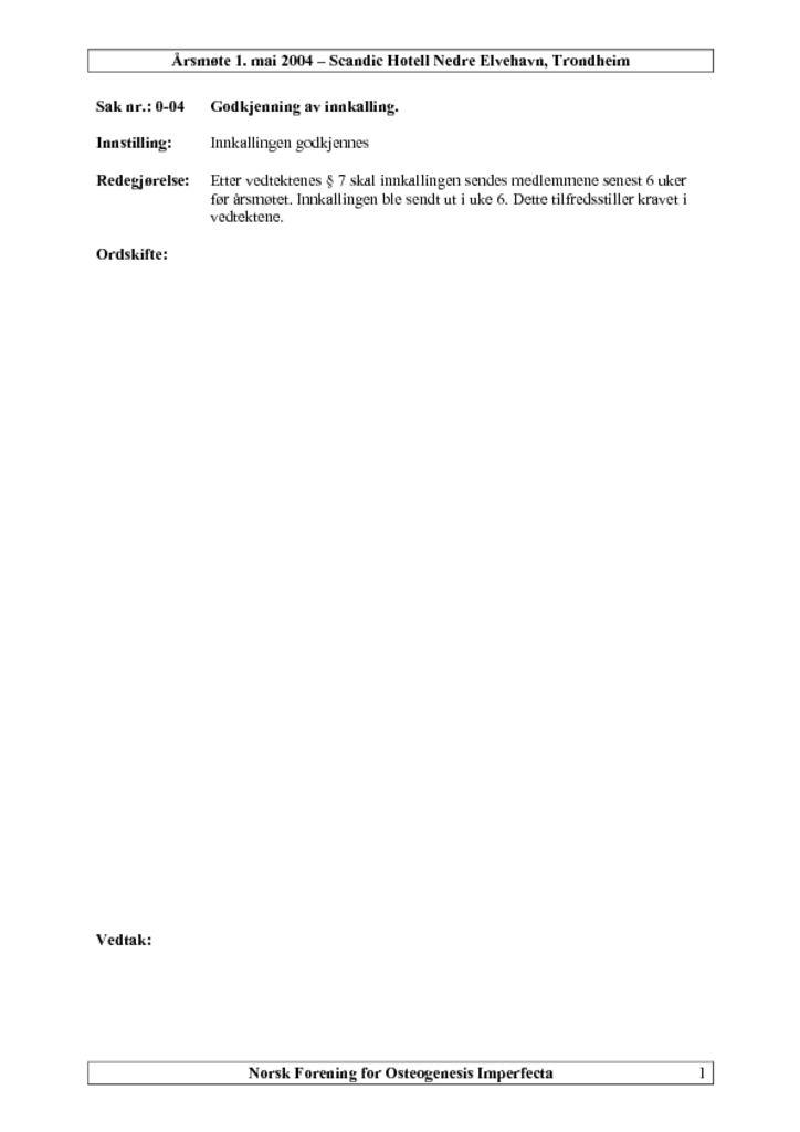thumbnail of Referat NFOIs årsmøte 2004