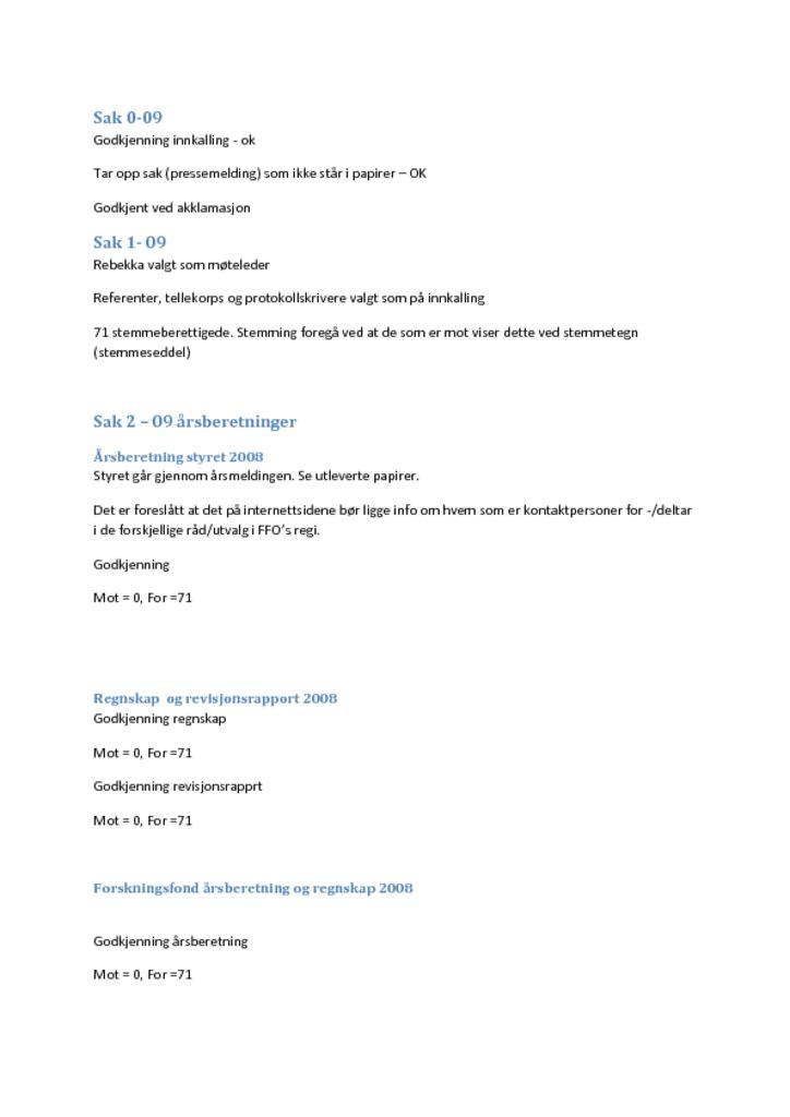 thumbnail of Referat NFOIs årsmøte 2009