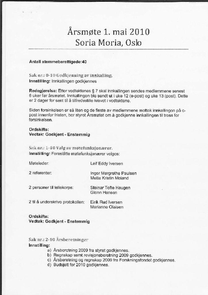 thumbnail of Referat NFOIs årsmøte 2010