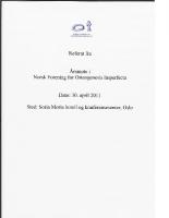 Referat NFOIs årsmøte 2011
