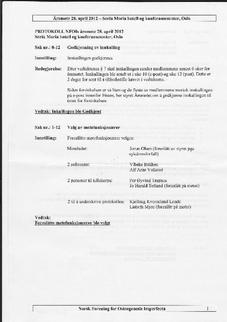 thumbnail of Referat NFOIs årsmøte 2012