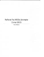 Referat NFOIs årsmøte 2015