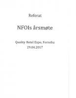 Referat NFOIs Årsmøte 2017