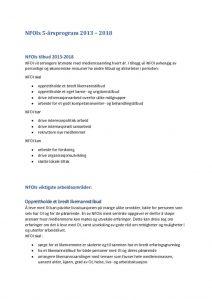 Forslag til NFOIs handlingsprogram 2018-2023