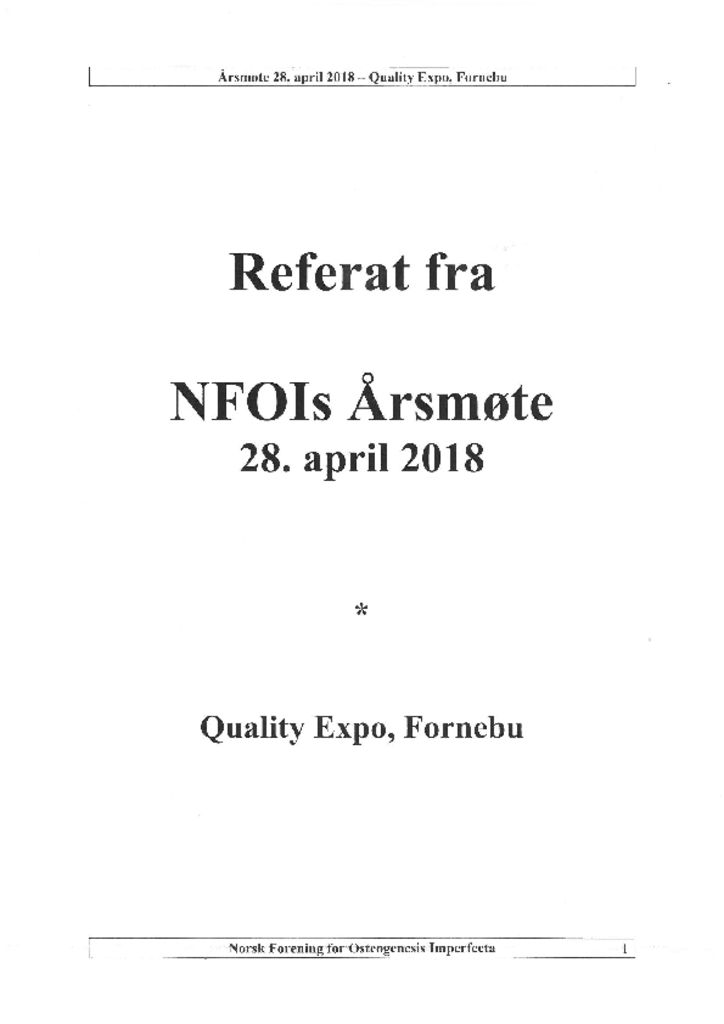 thumbnail of Referat NFOIs årsmøte 2018 -signert