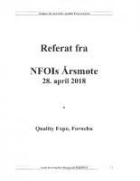 Referat NFOIs årsmøte 2018
