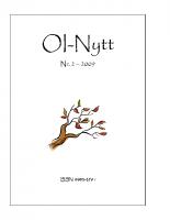 OI-Nytt 2009 NR. 2